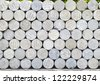 stack of cement bricks for floor construction - stock photo