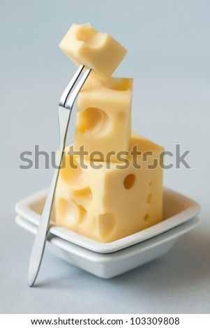 Stack of cheese,shallow depth of field - stock photo