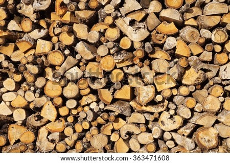 Stack of Chopped Firewood