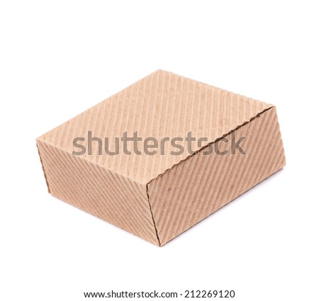 Stack of closed box. Isolated on a white background.