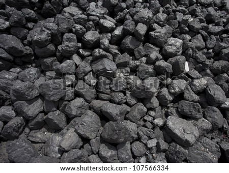 stack of coal - stock photo