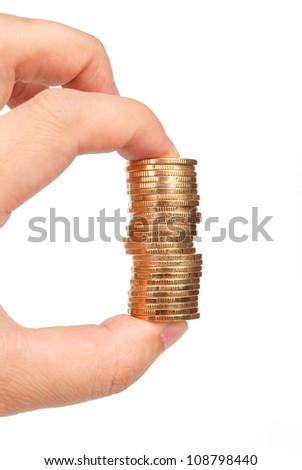 Stack of coin - stock photo