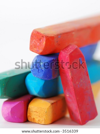 stack of colorful pastels