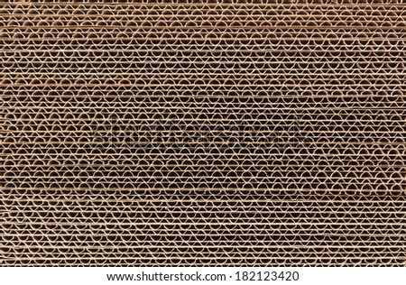 Stack of corrugated cardboard in a large pile - stock photo