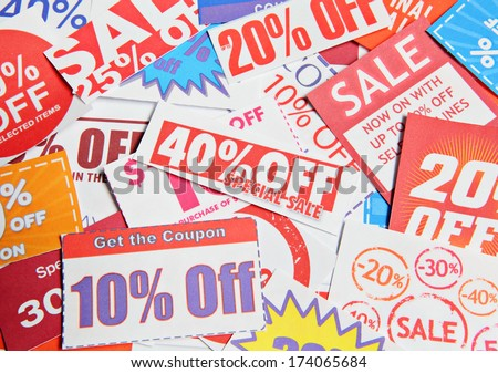 Stack of coupons - stock photo