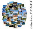 Stack of Croatia travel photos  - nature and travel background (my images) - stock photo