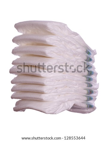 stack of diaper - stock photo