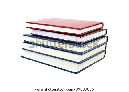 Stack of different variety colorful books
