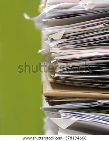 Stack of documents papers - stock photo