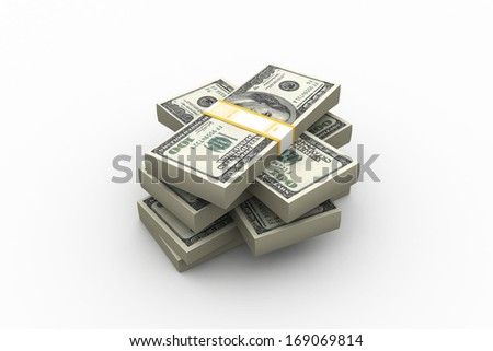 Stack of Dollar. - stock photo