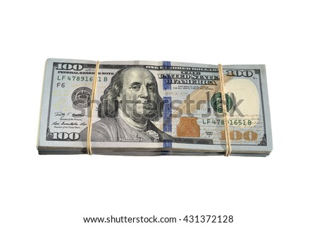 Stack of dollars - stock photo