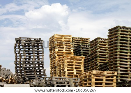 stack of euro pallets