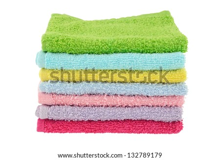 Stack of face cloths