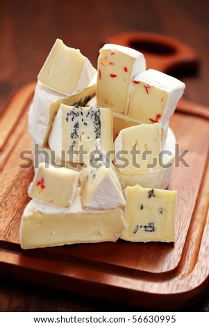 stack of fresh delicious cheese - food and drink