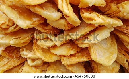 Stack of fried crispy roti