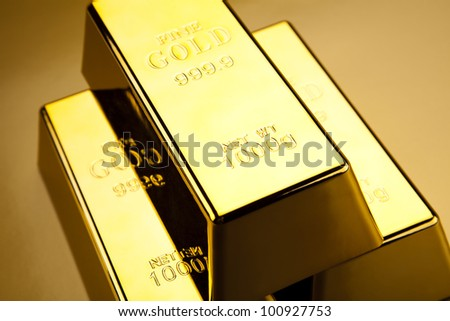 Stack of gold bar