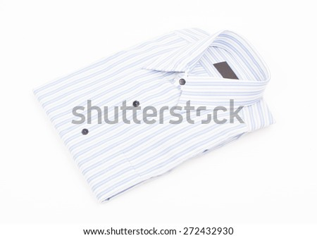 Stack of Men's Shirts Isolated on White