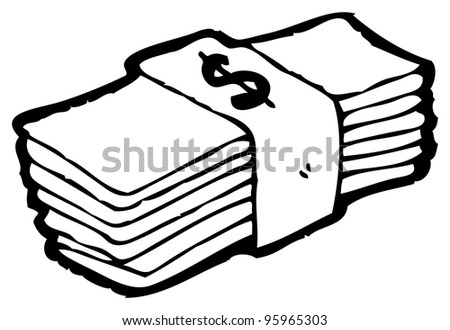 stack money cartoon stock illustration 95965303 shutterstock rh shutterstock com