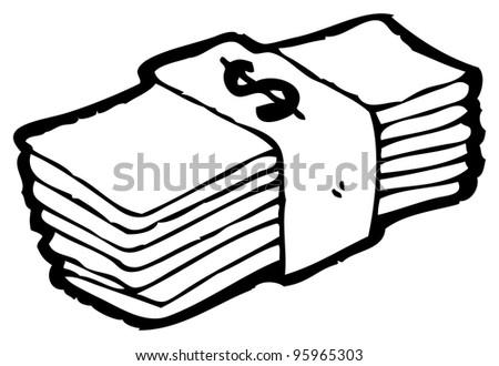 stack money cartoon stock illustration 95965303 shutterstock rh shutterstock com