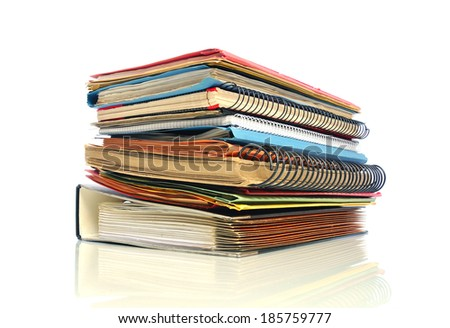 Stack of multicolored office files