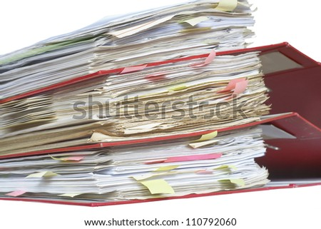 Stack of office file folders - stock photo