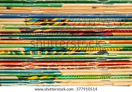 Stack of old books and magazines - stock photo
