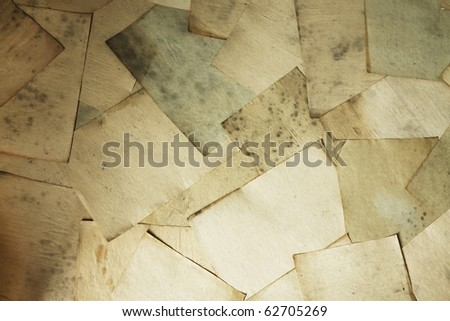 stack of old papers - stock photo