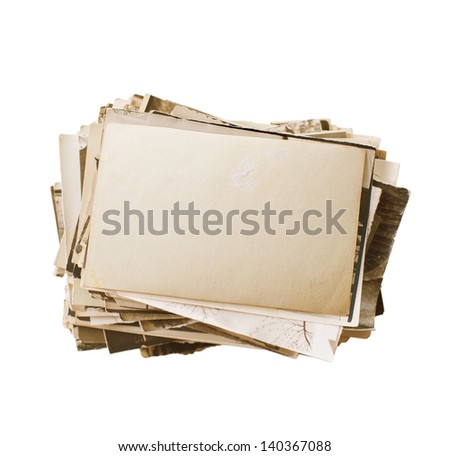stack of old photos - stock photo
