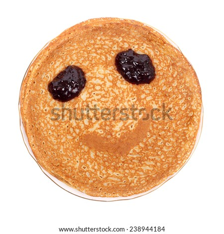 stack of pancakes for the Shrovetide - stock photo