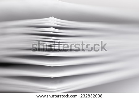 stack of paper, a fragment of a book or magazine - stock photo