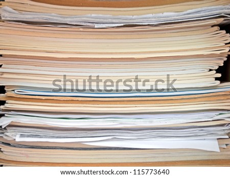 Stack of paper and files