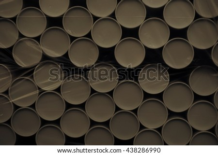 stack of paper cylinder with the plastic wrape - stock photo