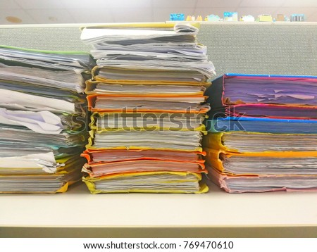 desk office file document paper. Stack Of Paper File Or Pile Work On Desk In Office, Documents Office Document O