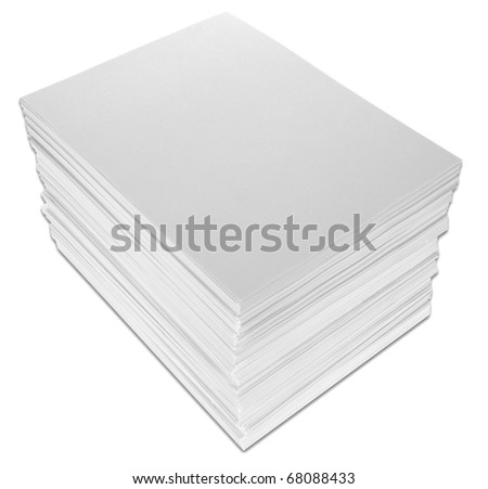 Stack of Paper isolated on white with a clipping path