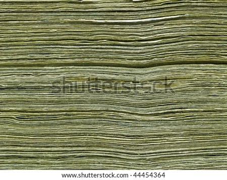 Stack of paper United States currency background - stock photo
