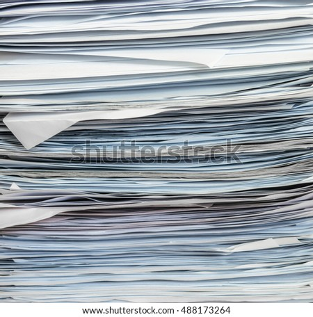 stack of papers, close up