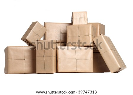 Stack of Parcels - stock photo