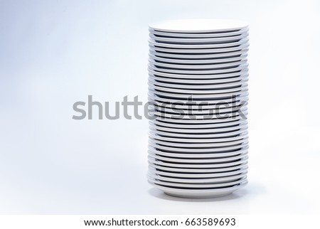 Stack of plates, isolated on white