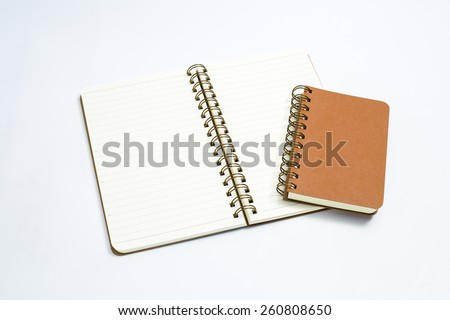 Stack of ring binder book or notebook on the white background. - stock photo