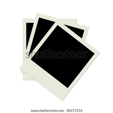 Stack of several blank  photo shots - stock photo