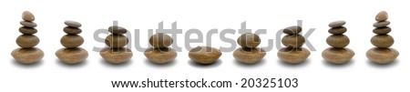 Stack of Stones - stock photo