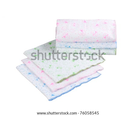Stack of swaddling bands for new born baby