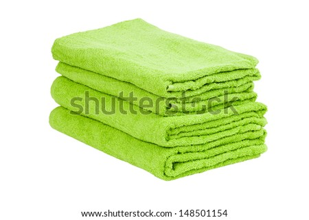Stack of the green towel