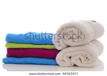 stack of towels for spa en health treatment