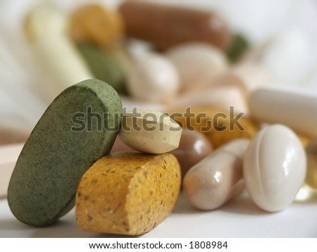 stack of vitamins