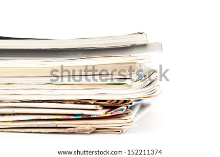 Stack of wastepaper?? Isolated on white background