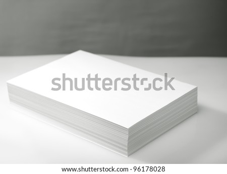 Stack of white printer and copier paper - stock photo