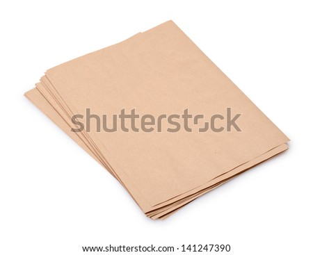 Stack old paper isolated on a white background - stock photo