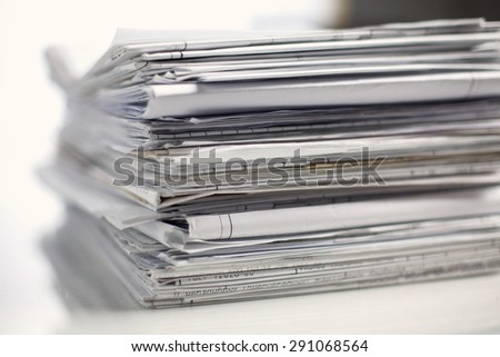 Stack, Paper, Document - stock photo