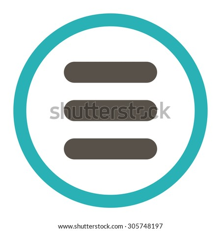 Stack raster icon. This rounded flat symbol is drawn with grey and cyan colors on a white background.